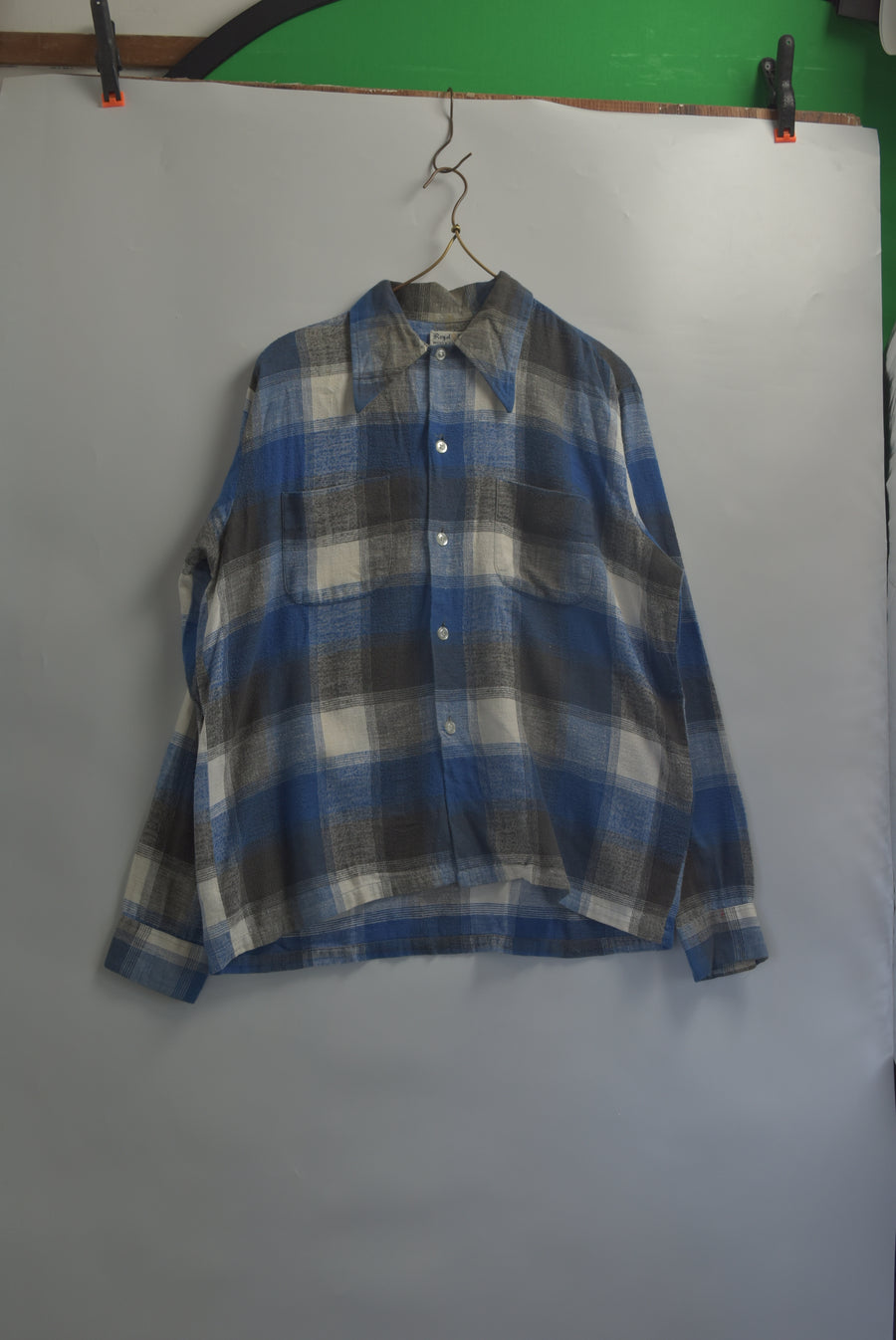 Vintage / 70s Cotton Nel Shirt / 8173 - 0703 58.5