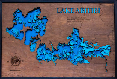 Lake Abitibi in Ontario and Quebec, Canada