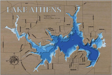 3d Depth Map of Athens Lake in Henderson County, TX