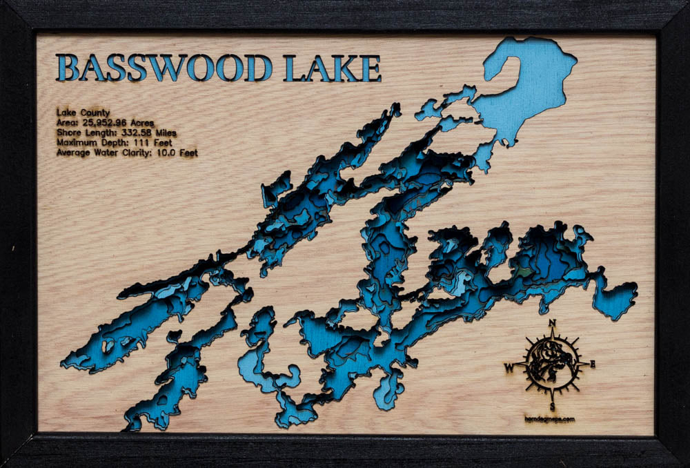 Basswood Lake in Lake County, MN and Ontario, Canada