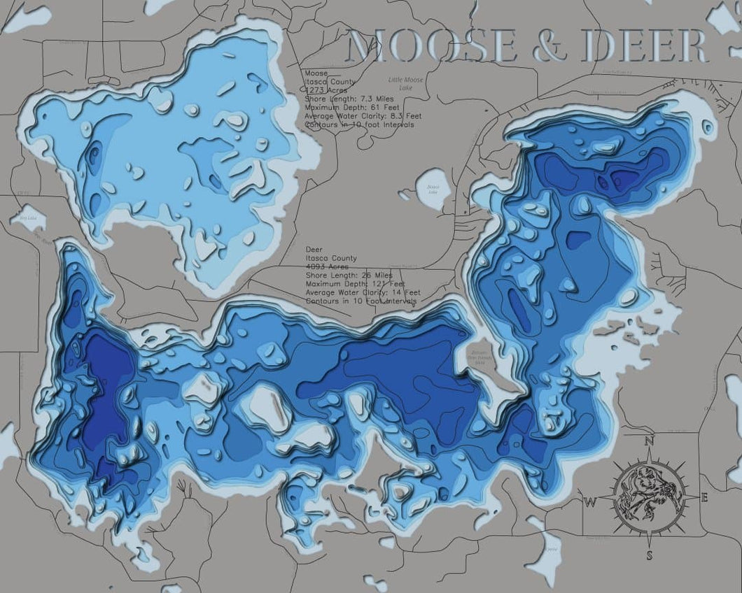 Moose and Deer (Itasca) - horn-dog-maps