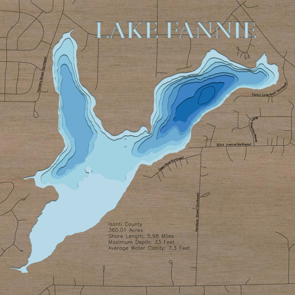 Fannie Lake in Isanti County, MN