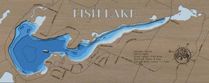 3d Depth Map of Fish Lake in Kanabec County, Minnesota