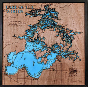 3d Depth map of Lake of The Woods