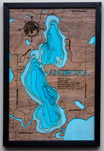 3d Lake Map of Andrusia Lake in Beltrami County, MN