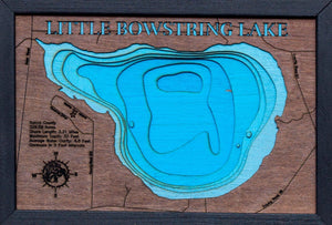 3d Depth Map of Little Bowstring Lake in Itasca County, MN