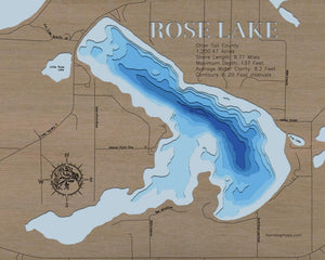 Rose Lake in Otter Tail County, MN