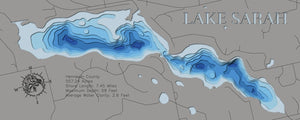 3D Depth Map of Lake Sarah in Hennepin County. MN