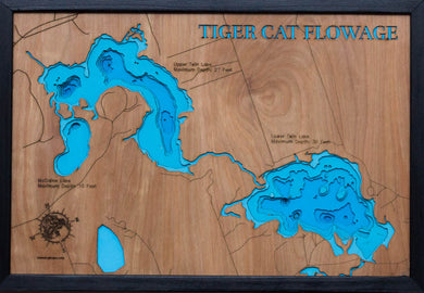 Upper and Lower Twin Lakes in the Tiger Cat Flowage in Sawyer County, WI