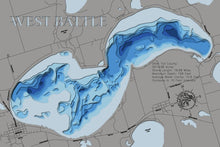 Load image into Gallery viewer, 3d Depth map of West Battle Lake in Otter Tail County, Minnesota
