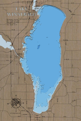 Lake Winnebago in Winnebago, Calumet, and Fond du Lac County, WI