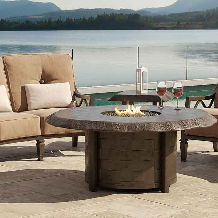 High End Outdoor Patio Furniture on the lake