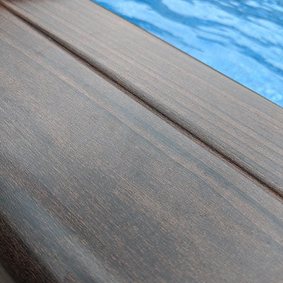 Above Ground Top Rail with Luxurious Wood Grain Finish