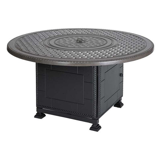 "Grand Terrace 54"" Round Gas Fire Pit with Paradise Base"