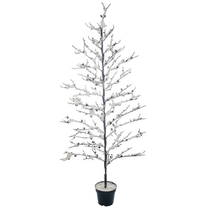 "Snowy Twig Potted 5'9"" Christmas Tree by Sullivans"