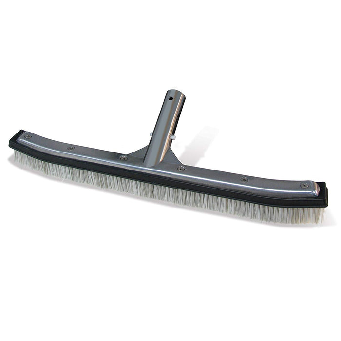 18-Inch Swimming Pool Brush With Aluminum-Back and Combo Bristles