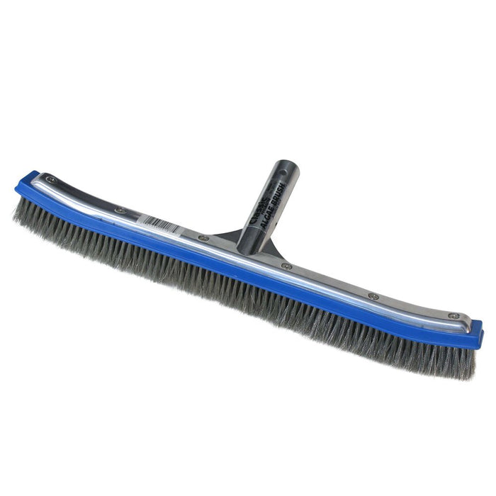 18 -Inch Aluminum-Back Swimming Pool Algae Brush with Stainless Steel Bristles