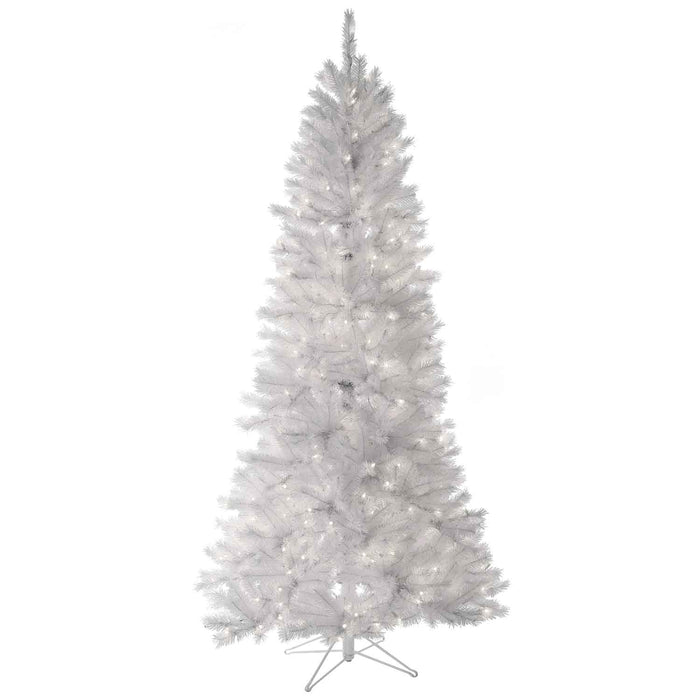Pine Tree White 7' Pre-Lit Permanent Christmas Tree (400 CL) by Regency Trees - 263L