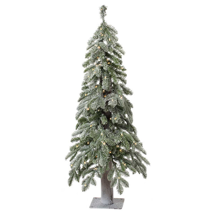 Alpine Frost 4' Pre-Lit Permanent Christmas Tree (100 CL) by Regency Trees - 28L