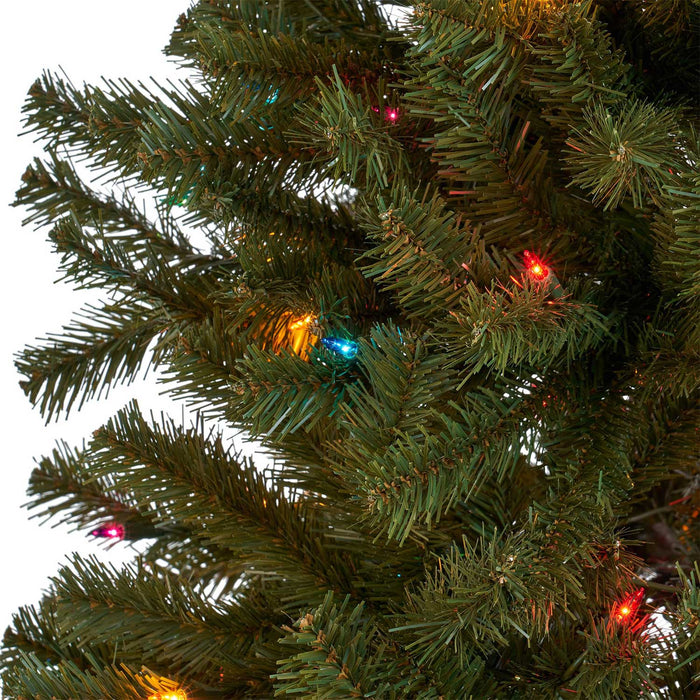 Noble  9 Ft. Pre-Lit Permanent Christmas Tree (1,300 LED M) Light detail