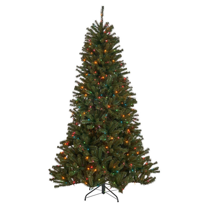 Noble  9 Ft. Pre-Lit Permanent Christmas Tree (1,300 LED M) Silo