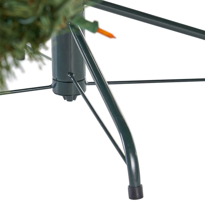 Noble  9 Ft. Pre-Lit Permanent Christmas Tree (1,300 LED M) tree stand