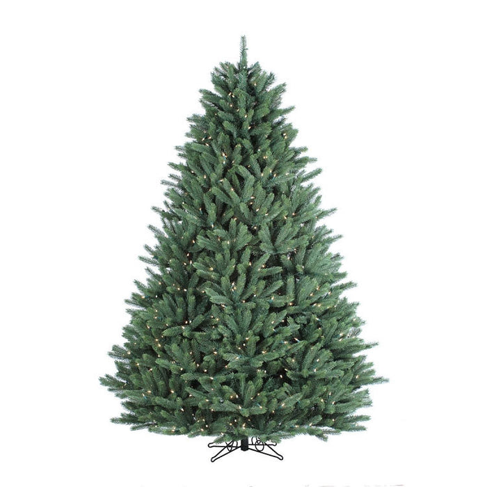 Canyon Spruce 9' Pre-Lit Permanent Christmas Tree (1,400 Staylit CL) by Santa'S Own - 437PSL