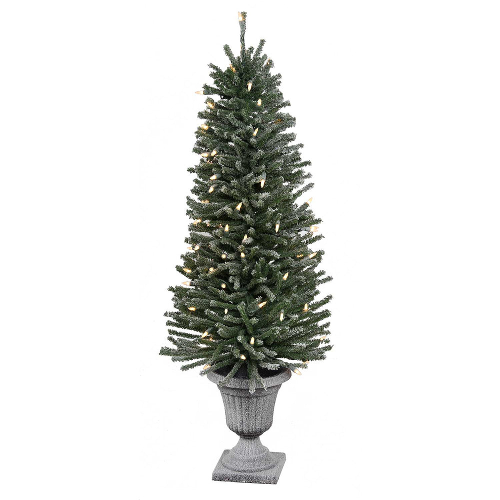 Flocked Milan Potted 3' Permanent Christmas Tree (70 CL)