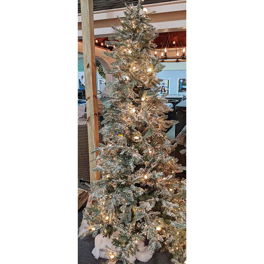 Vermont Frost 7.5' Pre-Lit Permanent Christmas Tree (550 Clear + C7) by Regency Trees - 550FRL
