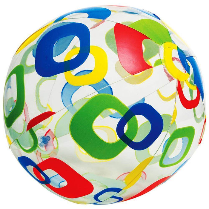 "Intex 24"" Lively Print Beach Ball - Assorted Colors"