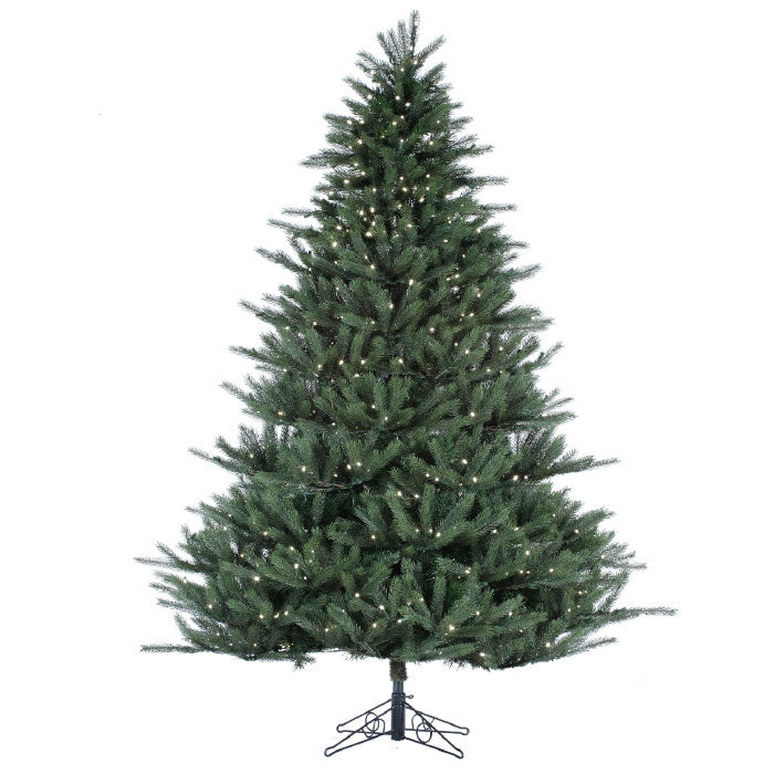 Pinnacle Fraser Fir 9' Pre-Lit Permanent Christmas Tree (1,350 Staylit CL) by Santa'S Own - 662PSL