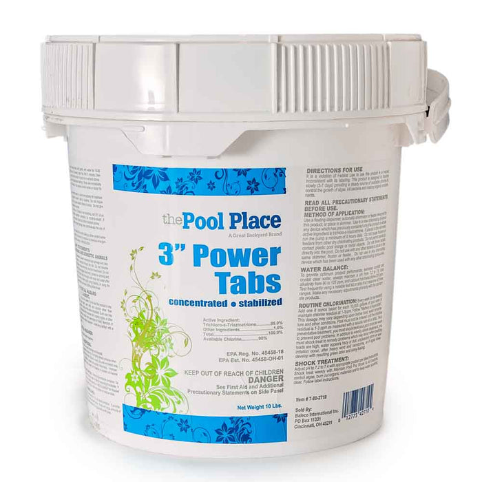"Pool Place 3"" Power Tabs - 25 Lbs."
