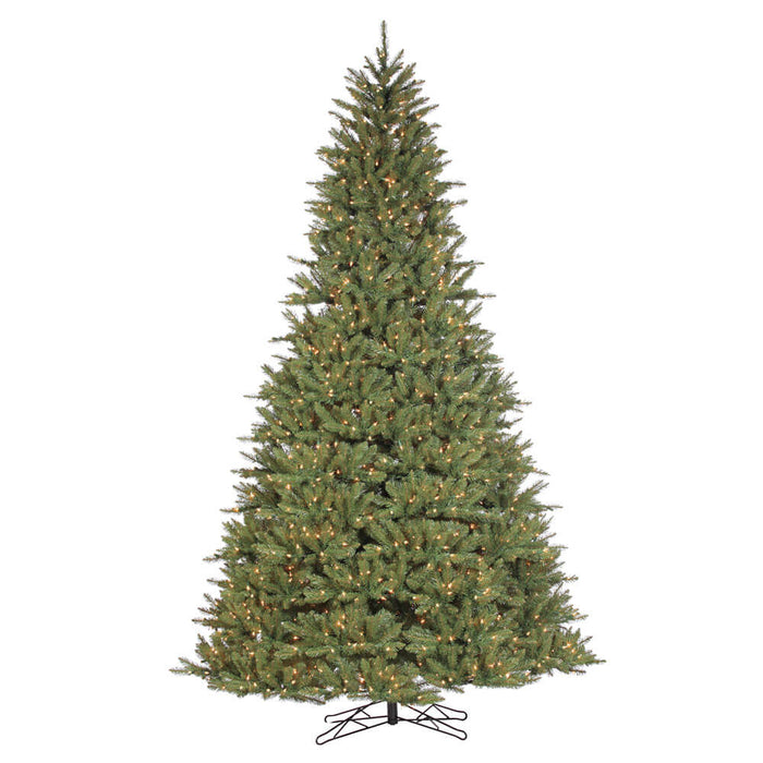 St Ives Spr 7.5' Pre-Lit Permanent Christmas Tree (1,250 Staylit CL) by Santa'S Own - 705SL