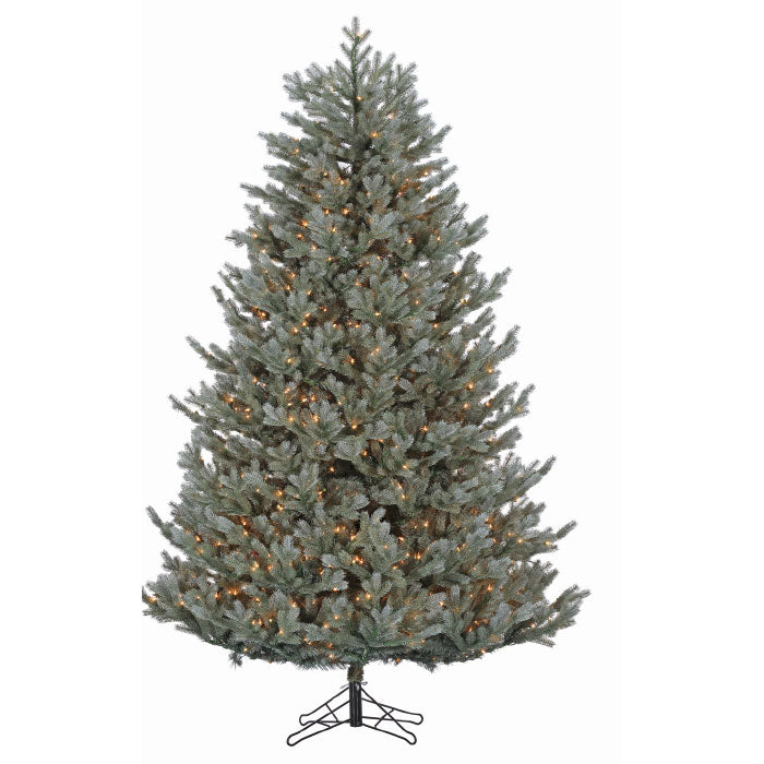 Blue Ridge Fir 7.5' Pre-Lit Permanent Christmas Tree (1,300 Staylit CL) by Santa'S Own - 715PSL