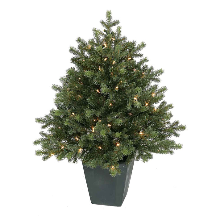 Potted Green Spruce 3' Permanent Christmas Tree (100 CL)