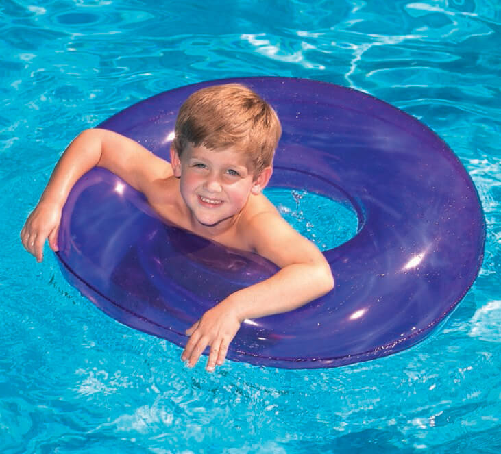 "30"" Bright Color Swim Ring Pool Tube"