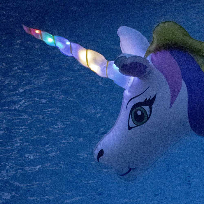 LED Unicorn Inflatable Glitter Ring