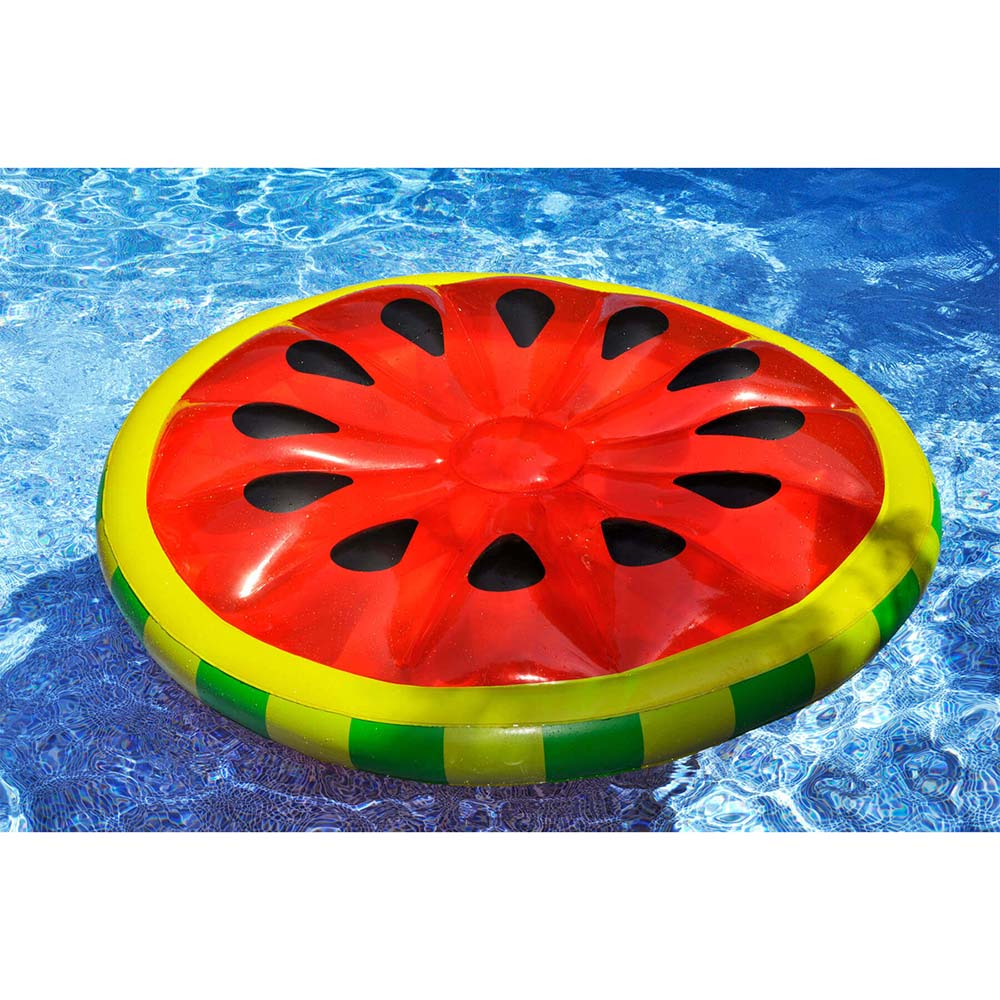 Giant Watermelon Slice Ride-On Inflatable Pool Float