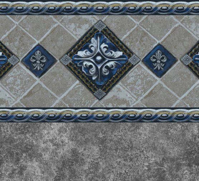 Ancient Seas Tile, Gray Marino Floor In Ground Pool Liner