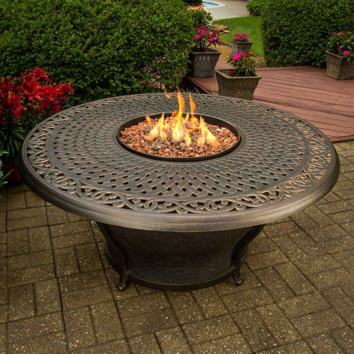Charleston Outdoor Gas Fire Pit — Great Backyard Place on Outdoor Fireplace Pit id=71352