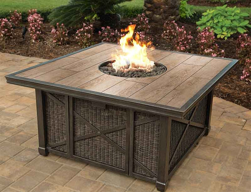 "Franklin 48"" Square Porcelain Top Gas Fire Pit"