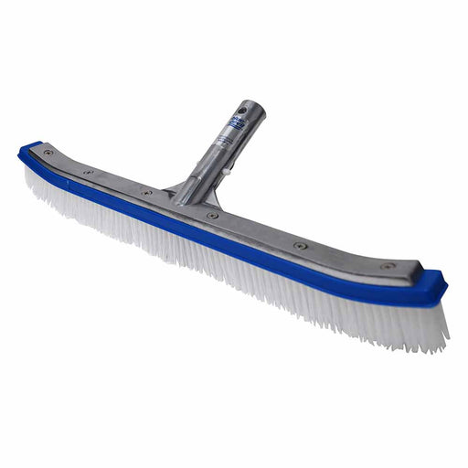 "18"" Metal Pool Wall Brush Deluxe with Poly Bristles"