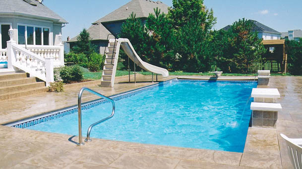 Monaco Rectangle Fiberglass Pool