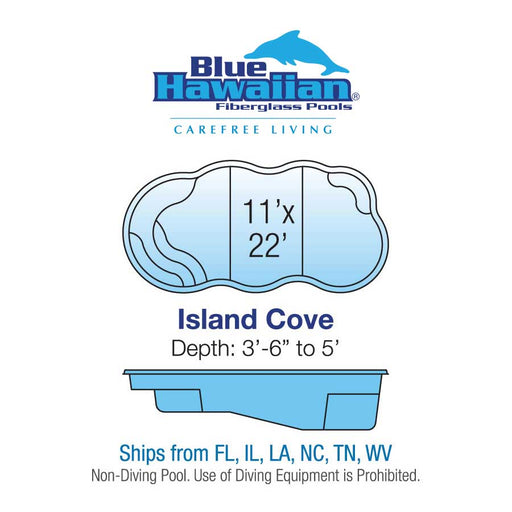 Island Cove Natural Fiberglass Pool Installation - Chattanooga TN