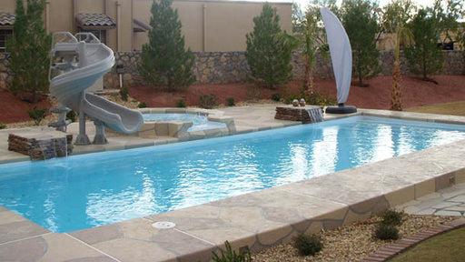 Ocean Breeze Rectangle Fiberglass Pool