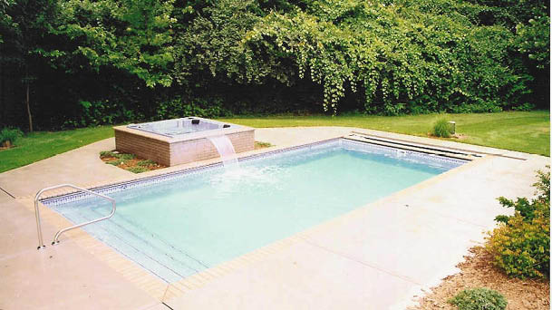 Lakeshore Rectangle Fiberglass Pool