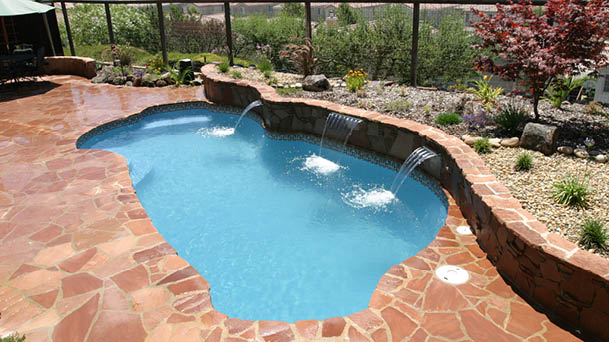 Freeport Freeform Fiberglass Pool