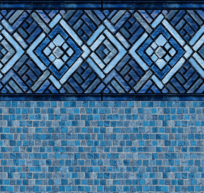 Blue Argos Tile, Stonecraft Mosaic Floor In Ground Pool Liner