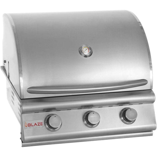 "Blaze 25"" 3-Burner Built-In Grill LP"