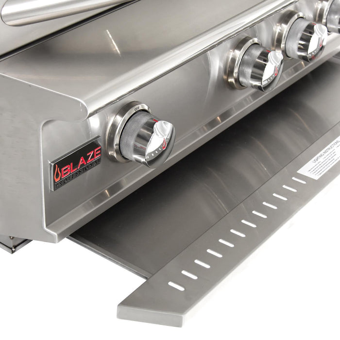 "Blaze Professional 34"" 3-Burner Built-In Grill With Rear Infrared Burner"